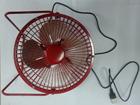 stainless steel fan blade red color 8 inch mini 5V USB desk small fan