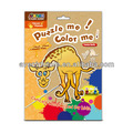 Rompecabezas jirafa de madera para los niños- puzzles/rompecabezas conmigo! Color me!