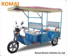 ROMAI 48V 850W motor tricycle three wheeler auto rickshaw/ auto rickshaw with DC brushless motor electric moped