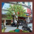 artificial de naranja del árbol de simulación de alta de frutas led iluminado los árboles para la decoración del hogar