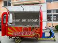 3 roda eletro- triciclo venda de carro para a venda de alimentos