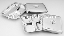 Hot sell Stainless Steel Fast Food tray with cover and competitive price