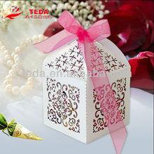 Laser cut white filigree favor gift boxes