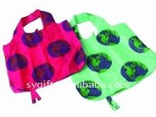 Resuable colorful nylon foldable enviro bag