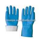 kitchen latex flock sprayed household gloves