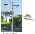 192 W CE RoHS de alta eficiência poste de iluminação lâmpada de rua led solar