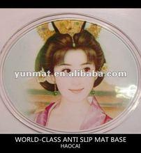Oval shaped perfume mat,pu magic pad,anti-slip mat