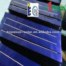 Solar collector fins , copper or aluminum,blue and black coating