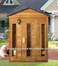 Villas Wood Dry Outdoor Sauna room house with Sauna bucket & scoop