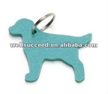 heat/animal/flower shaped wool/polyester felt keychain/strap/keyring