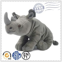 Custom stuffed plush animals toys for children rhino plush toys