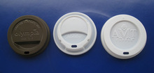 plastic PS coffee cup lids(SGS testing)