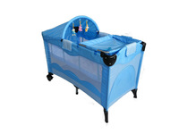 Foldable baby travel cot/ Baby crib bed /Baby playpen with canopy and toys