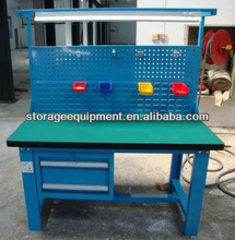 2015 HOT SELLING wooden ESD work bench/work table with storage cabinet