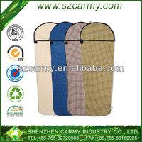 Outdoor or Travel 100% Cotton Super Light Liner Flannel Sleeping bag
