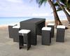 outdoor garden BBQ bar stool rattan/wicker furniture