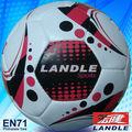 Tamanho oficial e peso couro costurado à mão bolas de futebol