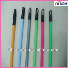 house mop stick/metal broom handle/handle stick with long plastic cap