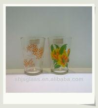 V-shape flower shot drinking glass