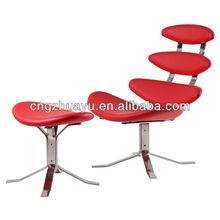 Loma de corona silla y otomana, muebles bauhaus, corona silla de salón