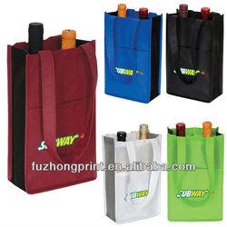 High quality reusable non woven wine bag