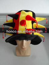 2014 Football Fans hat/Dense velvet football fans cap/hat for 2014 Brasil World Cup Brazil