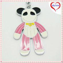 cute key chain with teddy bear keychain factory supplying