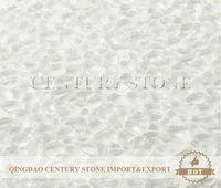 Mesh Mounted Decorative Super White Broken Crystal Glass Mosaic Tile