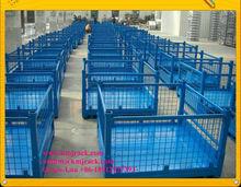 Steel Mesh Baskets, Heavy Duty Wire Mesh Handing Bin with Drop Gates, Wire Mesh Steel Bins