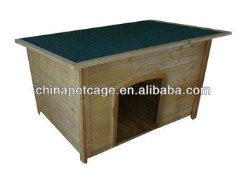 Flat wooden big dog house HX-G-006