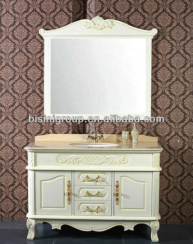 Imagenes De Baños Estilo Frances:estilo francés espejo armarios, De Color blanco tocadores de para