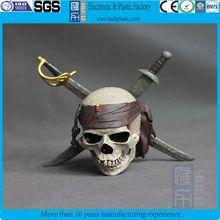 custom plastic skull decor/custom plastic resin movie characters plastic skull/wholesale halloween skull