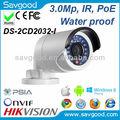 Hikvision 3mp ir bullet mini caméra réseau ds- 2cd2032- je