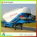 China 2014 de cemento a granel/polvo de material de transporte camiones cisterna tanque acoplado semi/semirremolque