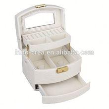 Jewelry Box travel Case Watch Display Organizer Gift Box PU Leather