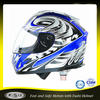 Stylish DOT ABS blue full face motor bike helmet