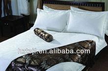100%cotton plain bedsheet set for hotel use