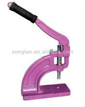 2012 fashion 5-30MM 8KG hp-3 PVC banner tarpaulin manual hand press button punching grommet machine eyelet press eyelet machine
