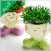 Funny grass head doll-Niuniu,magic flower pot with grass