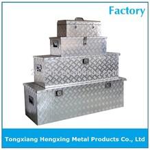Set of aluminium checker plate tool boxes