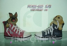 Resin Dog &Shoe Shape Money Container
