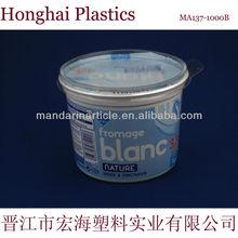 1000ml plastic ice cream container with lid