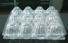 dongguan PET / PVC hatching plastic 6egg tray, 12egg case,3*4 egg plastic tray,cheap plastic eggs tray for packing