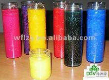 transparent cylinder glass tealight cup