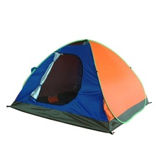 spring steel wire single wall automatic pop up tent