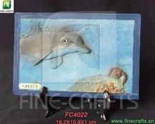 Polyrésine artisanat de dauphins souvenirs pour touristes plaque