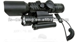 M9D 3-12X40E Mil dot hunting rifle scope with flashlight and laser