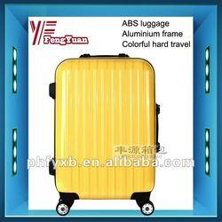 China alibaba 2014 Hot sale ABS+PC girls travel luggage/colorful hard travel luggage/ aluminium frame