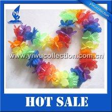 Hawaiian Flower Lei,Colorful flower lei,Rainbow flower lei
