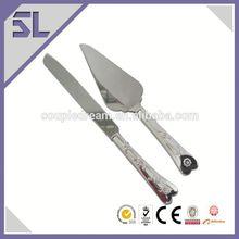 Wedding Server Set Metal Crystal Handle Cake Knife Serving Set